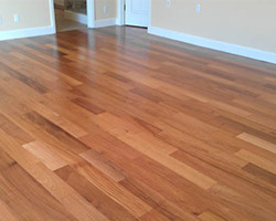 Completed flooring project by American Carpet & Flooring