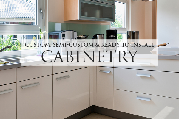 Custom, semi-custom & ready to install cabinetry at American Carpet & Flooring in Torrance